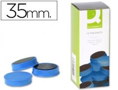 Magnetos (Imans) 35mm Azul Pack 10 un (CONNECT)