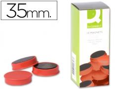 Magnetos (Imans) 35mm Vermelho Pack 10 un (CONNECT)