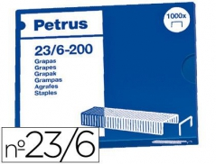 Agrafes 23/6 - Petrus cobreados (1000Un)