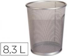 Cesto Papeis Metalico Rede Prata 7 litros (Un)