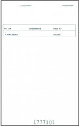 Bloco Empregado de Mesa Duplicado Espanhol 105x155mm 100fls