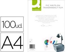 Acetato Q-Connect A4 Escrita Manual (100Un)