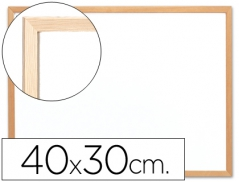 Quadro Branco 400mmx300mm c/ Moldura Madeira (Un)
