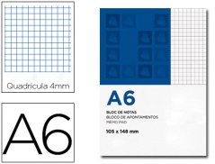 Ambar Basic Bloco Apontamentos A6 Quadriculado 80 Fls 60grs (Un)
