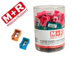 Apara lapis M+R de plástico rectangular de um uso (Un)