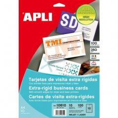 Cartões Visita APLI10610 89mmx51mm (10 Cartões p/Folha) (10 Fls) 250gr ~Media