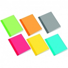 Caderno Agraf Ambar A5 Pautado (Capa Plástico) 48Fls 90gr (Un)
