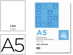 Bloco Apontamentos A5 Liso (80Fls)