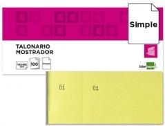 Bloco Rifas 60mmX145mm Amarelo (Un)