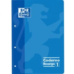 Caderno de Recarga A4 Pautado Azul (Un)