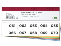 Bloco Rifas Folha Simples 205mmX50mm 10 nrºs p/ Pág. (Un)