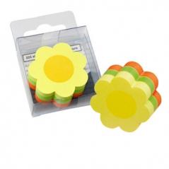 Bloco Notas Adesivo (50mmx50mm) Flor 3 cores (225Fls) (Un)