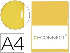 Bolsa Porta Documentos Amarelo A4  Plastico (Un) $21