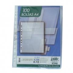 Bolsa Catalogo A4 Liso (Micas) 80Microns (100Un) (Roma361)