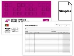 Bloco Impresso Nota de Entrega simples 155x215 mm (Un)