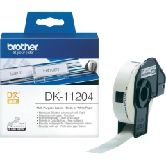 Brother DK11204 Etiqueta Branco 17X54mm