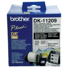 Brother DK11209 Etiqueta Endereco 62mmX29mm (800 Etiq)