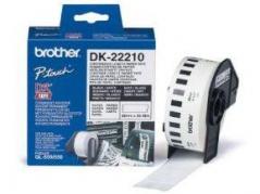 Brother DK22210 Etiqueta Branco Papel Continuo 29mmX30,48m *