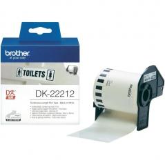 Brother DK22212 Etiqueta Branco Pelicula Continua 62mmX15,24