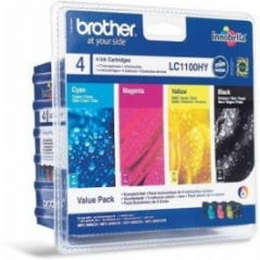 Brother LC1100HYVALBP Tinteiros Alta Capacid Pack 4 Cores