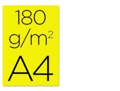 Cartolina A4 Amarelo 180grs (250Un)