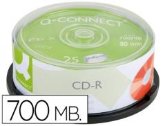 CD-R Q-Connect 700MB 80 Min 52x (Torre 25Un)