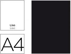 Caderno A4 Capa Preta Liso 80Fls (Un)