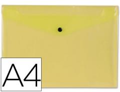 Bolsa Porta Documentos Amarelo A4 c/ Mola (Un)