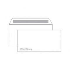 Envelope 110mmx220mm Branco Adesivo S/Janela (Cx500)