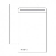 Envelope 176mmX250mm Branco Adesivo Saco (Cx 250Un)