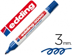 Marcador Edding 3000 Permanente Azul (Un)