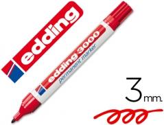 Marcador Edding 3000 Permanente Vermelho (Un)