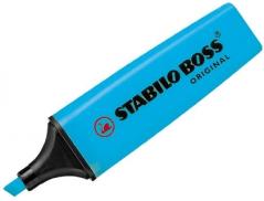 Marcador  Fluorescente Azul Stabillo Boss (Un)