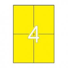 Etiquetas 105x148 Apli 20 Folhas A4 Amarelo 80un (Un)