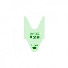 Rolo Senhas (Marcacao de Vez) cor Verde c/ 2000 nºs (Pack5Un)