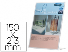 Expositor Porta Precos A5 150mmx213mm(Suporte Inclinado)(Un)