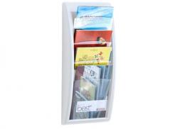 Expositor  Parede A4 c/ 4 Compartimentos Branco(650mmx290mm)