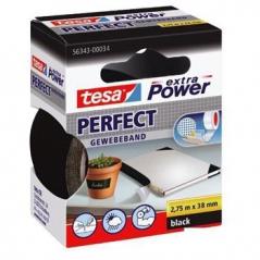 Fita Adesiva Tecido Tesa Extra Power Perfect 38mmx2.75m Preto (Un)