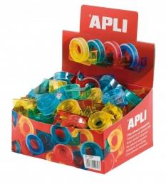 Fita Adesiva APLI Transparente15mmx10mts + Dispensador (Un)
