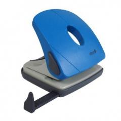 Furador Económico Metálico Azul c/ Regua 25Folhas (Un)
