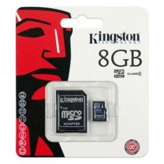Cartao Memoria Kingston Micro SD 8GB (Un)