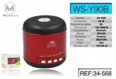 Coluna Som Bluetooth WS-Y90B 3W Portátil Azul (Un)
