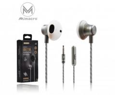 Auricular EJ-026 Vol / Mic 1.2M Jack 3.5mm - Cinzento (Un)
