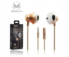 Auricular EJ-026 Vol / Mic 1.2M Jack 3.5mm - Dourado (Un)