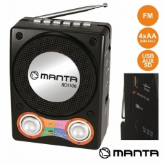 Rádio Portátil FM USB / SD / AUX / BAT SPK210 (Un)