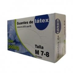 Luvas Latex Super Finas Tamanho (M) 100 (Un)