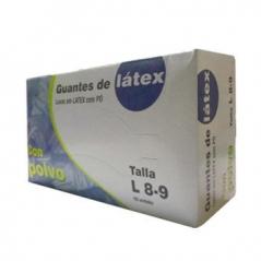 Luvas Latex Super Finas Tamanho (L) 100 (Un)