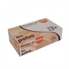 Luvas Vinil s/Pó (Super Finas) Tamanho L (Cx100)