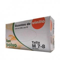 Luvas Vinil c/Pó (Super Finas) Tamanho M (Cx100)