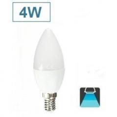 Lâmpada Led Casquilho Fino Forma Oval C37 E14 4W 6400K Luz Branco Frio (Un)